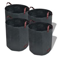 Торби за градински отпадъци, зелени, 272 л, 150 гр/м² - 4 броя