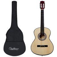 """vidaXL Класическа китара за начинаещи с калъф, 3/4, 36"""""""