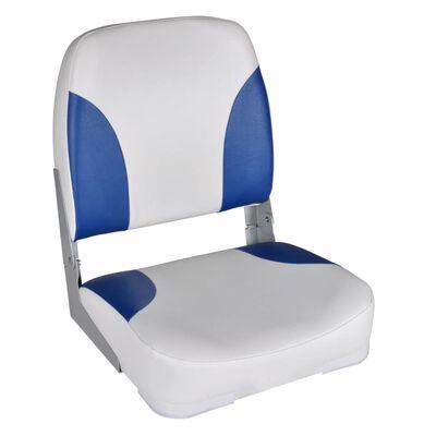 vidaXL Седалки за лодка 2 бр сгъваеми облегалки синьо-бели 41x36x48 см
