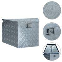 vidaXL Алуминиева кутия, 737/381x410x460 мм, сребриста