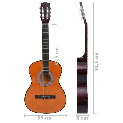 """vidaXL Комплект класическа китара за деца и начинаещи 8 части 3/4 36"""""""