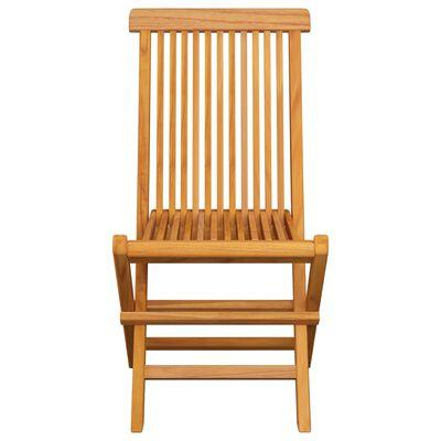 vidaXL Градински столове с бежови възглавници 8 бр тиково дърво масив