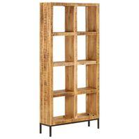 vidaXL Етажерка за книги, 80x25x175 см, мангово дърво масив