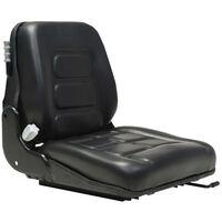 vidaXL Седалка за мотокар и трактор с въздушно окачване, черна