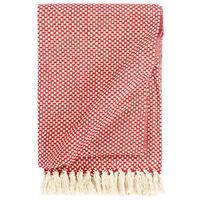 vidaXL Декоративно одеяло, памук, 160x210 см, червено