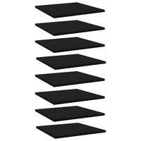 vidaXL Рафтове за етажерка, 8 бр, черни, 40x40x1,5 см, ПДЧ