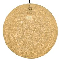 vidaXL Пендел, кремав, сферичен, 45 см, Е27