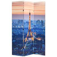 vidaXL Сгъваем параван за стая, 120x170 см, нощен Париж