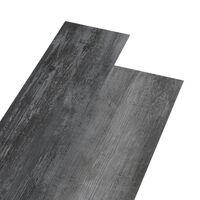 vidaXL PVC подови дъски 5,02 м² 2 мм самозалепващи блестящо сиво