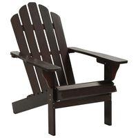 vidaXL Градински стол, дърво, кафяв