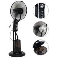 vidaXL Вентилатор за мъгла на стойка, 3 скорости на вятъра, черен
