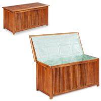 vidaXL Градински сандък за съхранение, 117x50x58 см, акация масив