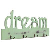 vidaXL Стенна закачалка за палта DREAM, 50x23 см