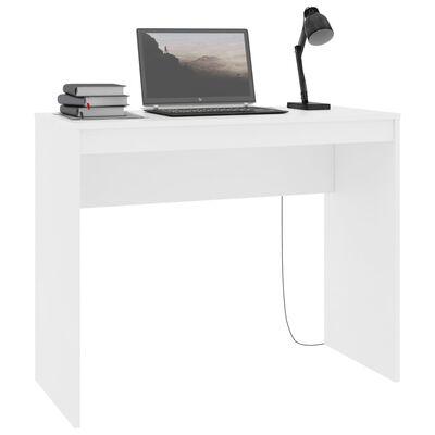 vidaXL Бюро, бяло, 90x40x72 см, ПДЧ