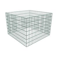 vidaXL Квадратен мрежест градински компостер, 100x100x70 см