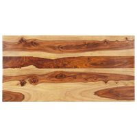 vidaXL Плот за маса, шишамово дърво масив, 25-27 мм, 60x140 cм