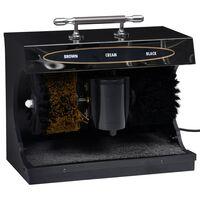 vidaXL Електрическа машина за полиране на обувки, автоматична, черна