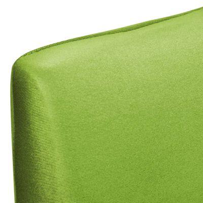 vidaXL Покривни калъфи за столове, еластични, 6 бр, зелени