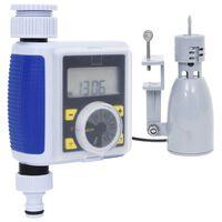 vidaXL Дигитален таймер за поливане с единичен изход и сензор за дъжд
