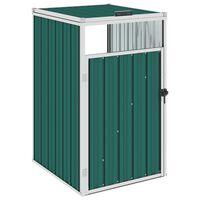 vidaXL Навес за кофа за боклук зелен 72x81x121 см стомана