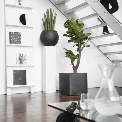 Capi Плантер Urban Smooth, квадратен, 50x50x50 см, черен, KBL904
