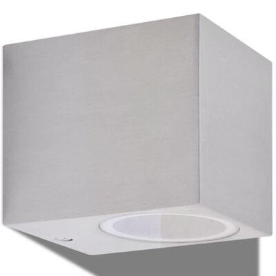 vidaXL Външни LED прожектори за стена, обли, насочени надолу, 2 бр