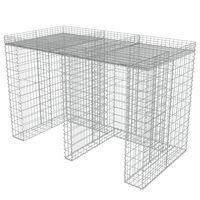 vidaXL Габионна стена за контейнер поцинкована стомана 190x100x130 см