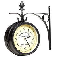 vidaXL Двустранен стенен часовник, 20 см