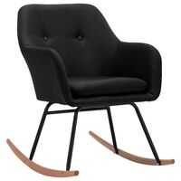 vidaXL Люлеещ се стол, черен, текстил