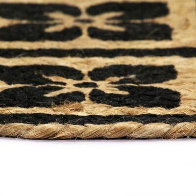 vidaXL Подложки за хранене, 6 бр, черни, 38 см, кръгли, юта