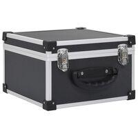 vidaXL CD куфар за 40 диска, алуминий, ABS, черен