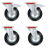 vidaXL Въртящи се колела, 4 бр, 160 мм