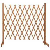 vidaXL Градинска оградна решетка, оранжева, 180x100 см, чам масив