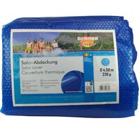Summer Fun Лятно соларно покривало за басейн кръгло 450 см PE синьо