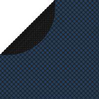 vidaXL Плаващо соларно покривало за басейн, PE, 417 см, черно и синьо