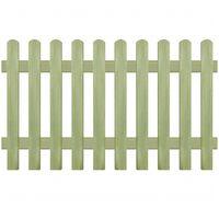 vidaXL Решетъчна ограда, импрегнирано борово дърво, 170x100 см, 6/9 см