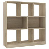 vidaXL Библиотека, дъб сонома, 97,5x29,5x100 см, ПДЧ