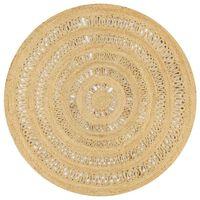 vidaXL Ръчно плетен килим от юта, 150 см