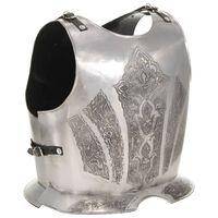 vidaXL Средновековна рицарска бронежилетка реплика ЛАРП сребро стомана