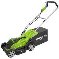 Greenworks Косачка за трева с 2 батерии 40V 2 Ah, G40LM35, 2501907UC