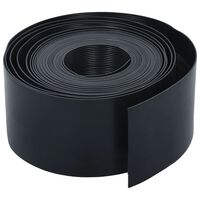vidaXL Градински кант, черен, PE, 10 м, 20 см