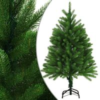 vidaXL Изкуствено коледно дърво, реалистични иглички, 120 см, зелено