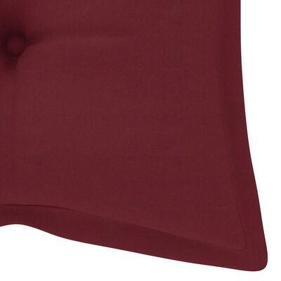 vidaXL Възглавница за градинска люлка, виненочервена, 120 см, текстил