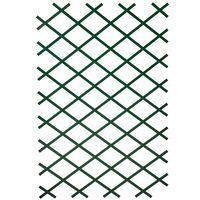 Nature 2 бр градински решетки за цветя, 100x200 см, PVC, зелени