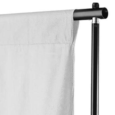 vidaXL Фотографски фон, памук, бял, 500х300 см
