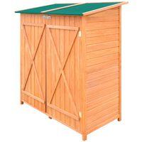vidaXL Дървен градински навес/барака за съхранение, голям
