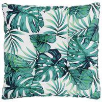 vidaXL Градинска възглавница за сядане, листа, 50x50x10 см, текстил