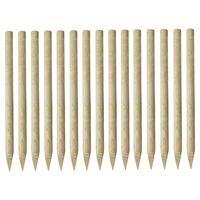 vidaXL Заострени оградни стълбове, 15 бр, импрегниран бор, 4x170 см