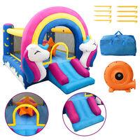 Happy Hop Надуваем батут с пързалка, 335x265x215 см, PVC