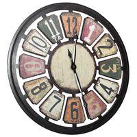 vidaXL Стенен часовник, многоцветен, 80 см, МДФ